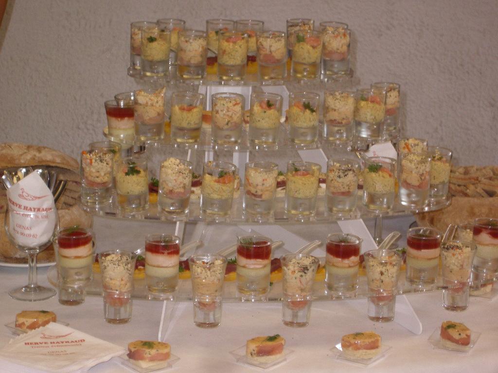 Dégustez nos buffets de verrines